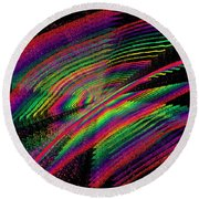 Kinetic Rainbow 43 Round Beach Towel