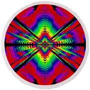 Kinetic Rainbow 44 Round Beach Towel