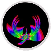Kinetic Rainbow 49 Round Beach Towel