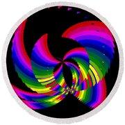 Kinetic Rainbow 51 Round Beach Towel