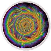 Kinetic Rainbow 60 Round Beach Towel