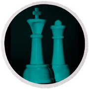 King And Queen In Turquois Round Beach Towel