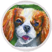 King Charles Round Beach Towel by Stephen Anderson