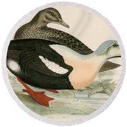King Duck Round Beach Towel