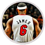 King James Round Beach Towel