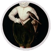 King James I Of England Round Beach Towel