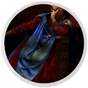 King John Ponders The Magna Carta Round Beach Towel