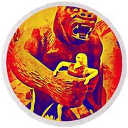 King Kong Round Beach Towel