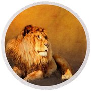 King Leo Round Beach Towel