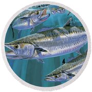 King Of Kings Off0090 Round Beach Towel by Carey Chen