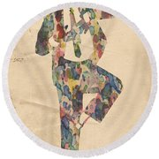 King Of Pop In Concert No 10 Round Beach Towel