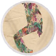King Of Pop In Concert No 8 Round Beach Towel