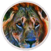 King Of The Wilderness Round Beach Towel