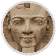 King Ramses II  Round Beach Towel