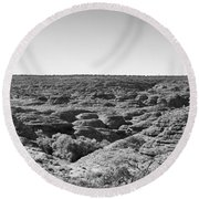 Kings Canyon Black And White Round Beach Towel