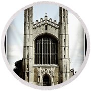 King's College Chapel - Poster Round Beach Towel