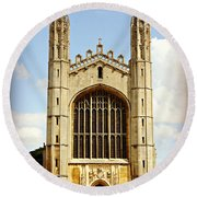 King's College Chapel Round Beach Towel