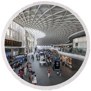 Kings Cross Station Round Beach Towel