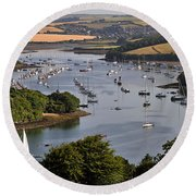 Kingsbridge Estuary Devon Round Beach Towel