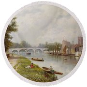 Kingston On Thames Round Beach Towel by Robert Finlay McIntyre