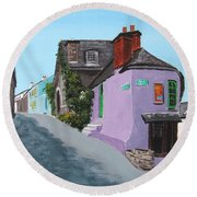 Kinsale Corner Shop Round Beach Towel