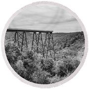 Kinzua Viaduct 6911 Round Beach Towel
