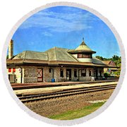 Kirkwood Station Round Beach Towel by Marty Koch