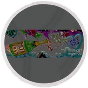 Kiss Me Hot Stuf Posterized Round Beach Towel