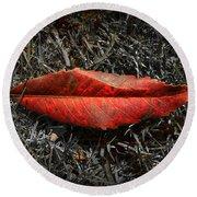 Kiss Of Leaf Round Beach Towel