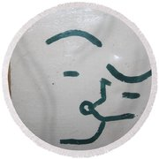 Kisses - Tile Round Beach Towel