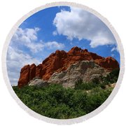 Kissing Camels - Garden Of The Gods Round Beach Towel