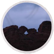 Kissing Camels Round Beach Towel