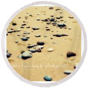 Kissing The Earth Round Beach Towel