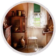 Kitchen - A Cottage Kitchen  Round Beach Towel