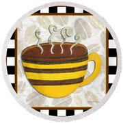 Kitchen Cuisine Hot Cuppa No14 By Romi And Megan Round Beach Towel