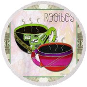 Kitchen Cuisine Rooibos Tea Party By Romi And Megan Round Beach Towel