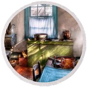 Kitchen - Old Fashioned Kitchen Round Beach Towel
