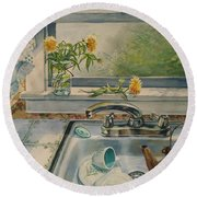 Kitchen Sink Round Beach Towel