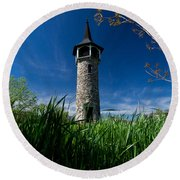 Kitchener's Pioneer Tower Round Beach Towel