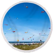 Kite Festial Round Beach Towel