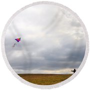 Kite Flying Round Beach Towel