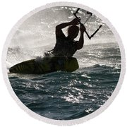 Kite Surfer 02 Round Beach Towel