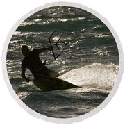 Kite Surfer 03 Round Beach Towel