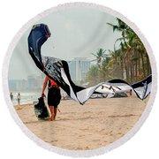 Kiteboard Gear Round Beach Towel