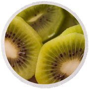 Kiwi For Lunch Round Beach Towel