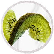 Kiwi With A Twist Round Beach Towel
