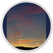 Klamath Summer Sunset Round Beach Towel