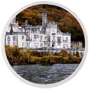 Klyemore Abbey Round Beach Towel