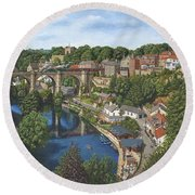 Knaresborough Yorkshire Round Beach Towel