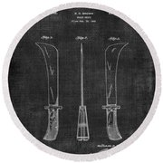 Knife Patent 1942 005 Round Beach Towel